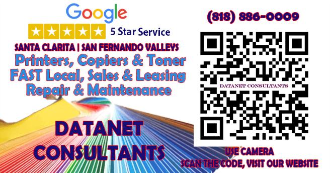 5 Star Copier & Printer Service | Datanet Consultants | Serving Santa Clarita and The San Fernando Valley